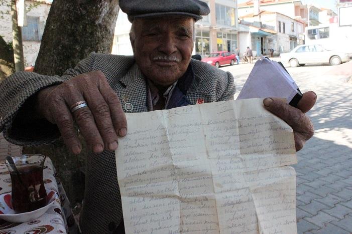 60 yıl saklanan mektup (ÖZEL HABER)