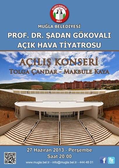 Prof. Dr. Şadan Gökovalı Açık Hava Tiyatrosu bugün açılıyor