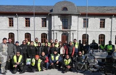 Motosikletçiler Kış Turizmini başlattı