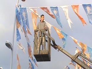 Marmaris'te bayraklar toplandı