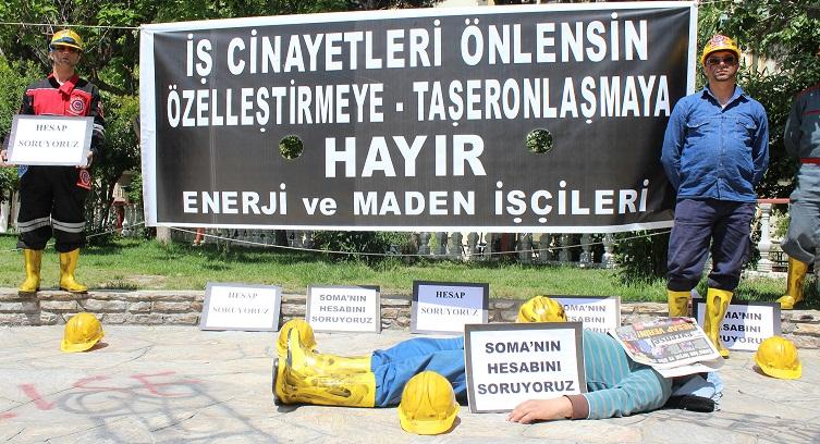 MADENCİLERDEN PROTESTO EYLEMİ