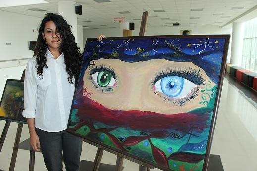 Gazi Anadolu Lisesi öğrencilerinden resim sergisi