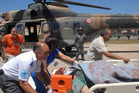Uçurumda kurtarma operasyonu