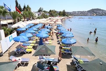 Bodrum Mavi Bayraklı plajlarıyla dikkat çekiyor