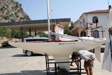 Türkiye'nin ilk Paralimpik Yelkenlisi Marmaris'te üretildi
