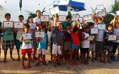 Yelkenciler sertifikalarını aldılar