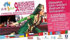 9.Bodrum Uluslararası Halk Dansları Festivali başlıyor