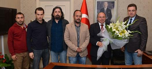 Büyükşehir Gazeteciler Derneği'nde Vali'ye ziyaret