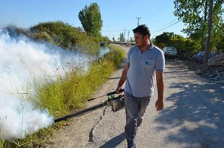 Sivrisinekle mücadele devam ediyor