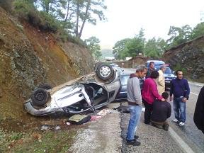 Marmaris'te kaza: 1'i ağır 5 yaralı