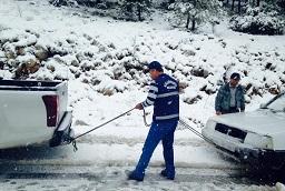 Muğla'da kar ve tipi etkili oldu