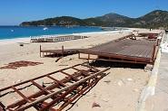 Belceğiz Plajında 'platform' krizi son buldu