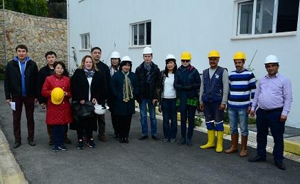 Kırgızlar Bodrum'daki tesisleri inceledi