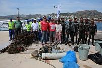 Deniz temizliği Ortakent-Yahşi'de devam etti
