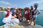 Dünya güzelleri Bodrum'da kampa girdi