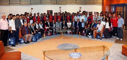 MSKÜ'de başarılı sporculara ödül