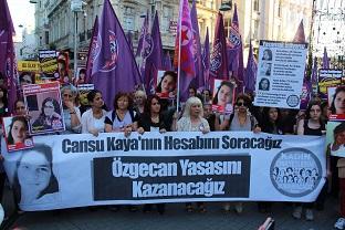 Cansu Kaya için Taksim'de yürüdüler