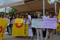 Kadına şiddet Ortaca'da da protesto edildi