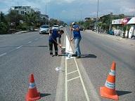 Büyükşehir'in Yol İşaretleme çalışmaları sürüyor