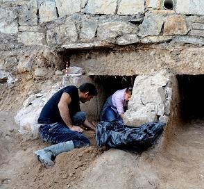 İnşaat çalışmasından antik mezar çıktı