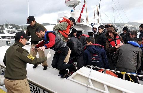 Bin 100 göçmen yakalandı