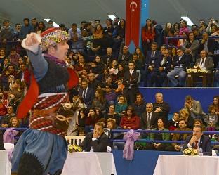 Halk Oyunları İl Birinciliği yarışması yapıldı