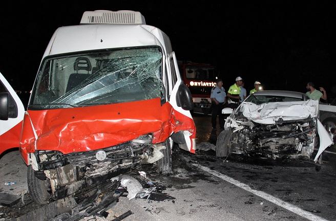 Bodrum'da kaza: 1 ölü, 4 yaralı