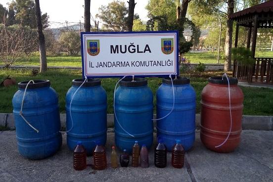 830 litre sahte içki ele geçirildi
