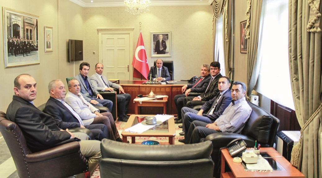 Ercan ve yönetimi ziyaretlerine başladı