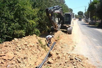 Dereköy'ün içme suyu hattı yenilendi