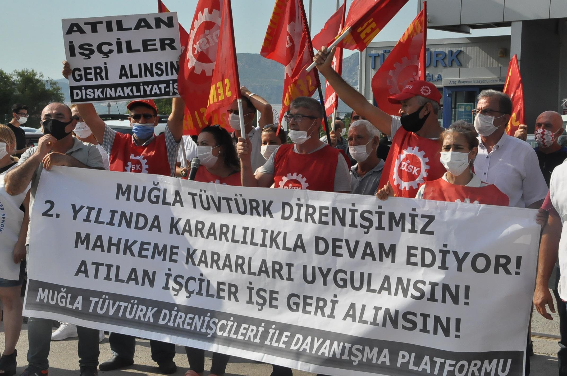 """TÜVTÜRK işçileri: """"Haklı mücadelemizi sürdüreceğiz"""""""