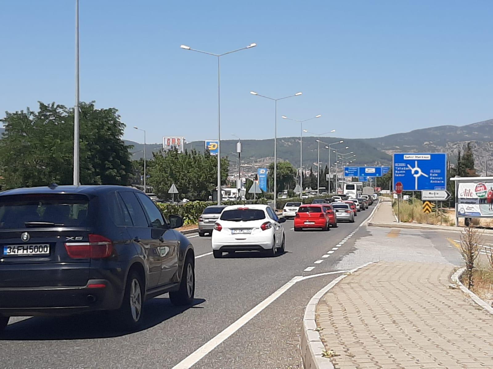 Muğla'da Trafik Yoğunluğu