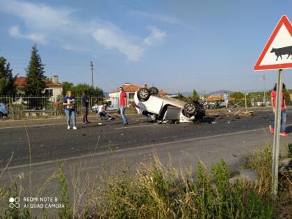 Akçaova yolunda kaza
