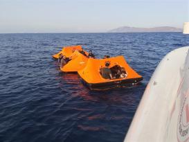 Türk kara sularına itilen 83 sığınmacı kurtarıldı