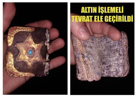 ALTIN İŞLEMELİ TEVRAT ELE GEÇİRİLDİ
