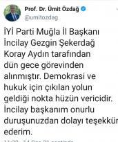 İyi Parti İl Başkanı İncilay Gezgin Şekerdağ ve yönetimi düşürüldü