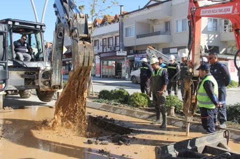 Datça'da içme suyu isale hattındaki arıza tamir edildi