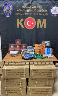 Gümrük kaçağı tütün mamullerini piyasaya süren kişi gözaltına alındı