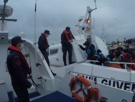 Bodrum açıklarında 34 düzensiz göçmen kurtarıldı