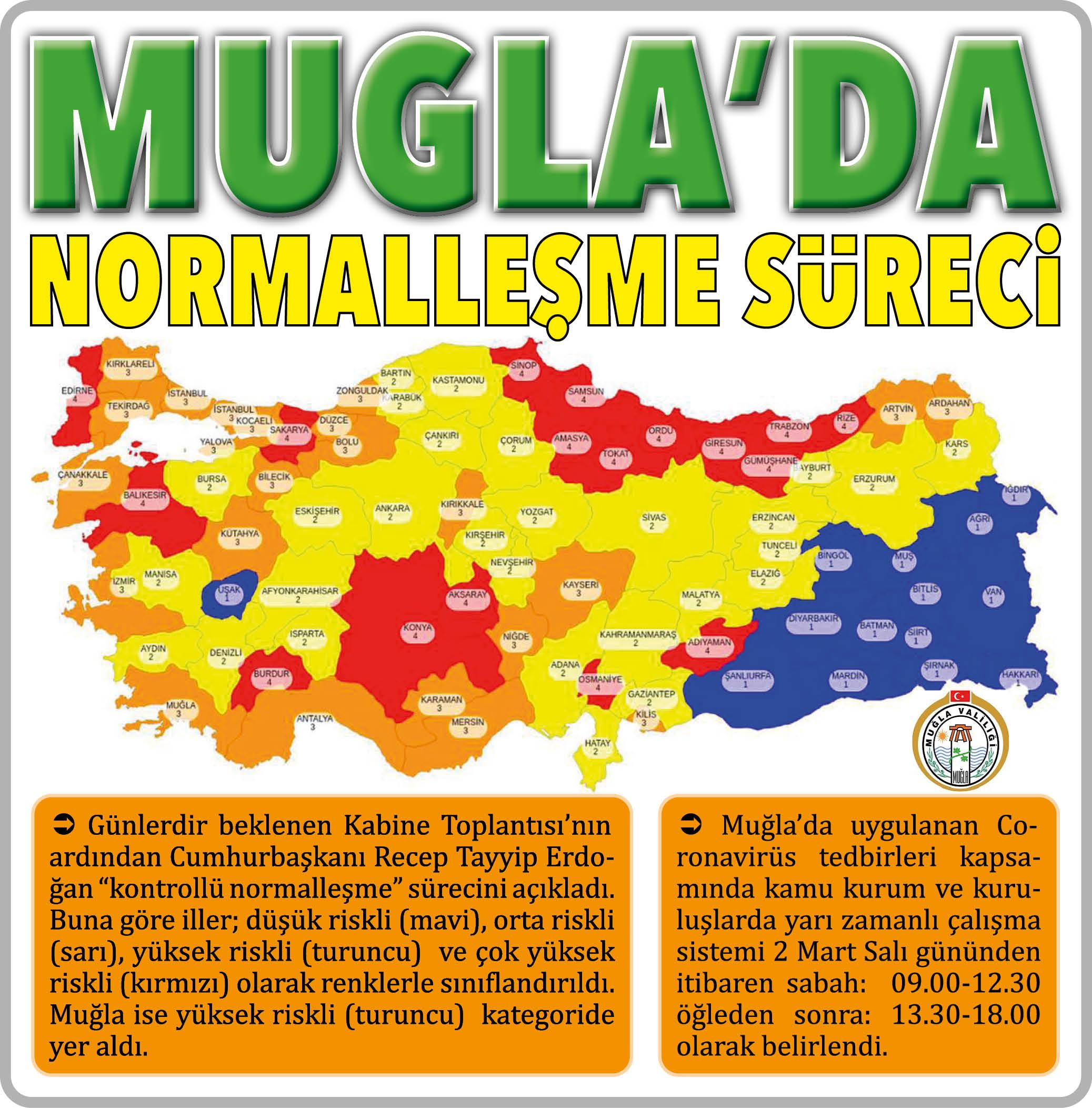 MUĞLA'DA NORMALLEŞME SÜRECİ