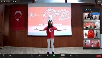 Çevrim içi İstiklal Marşı'nı güzel okuma yarışması yapıldı