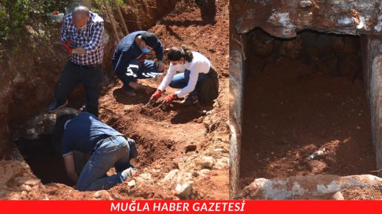 Muğla'da yaklaşık 2500 yıllık aile mezarına rastlandı