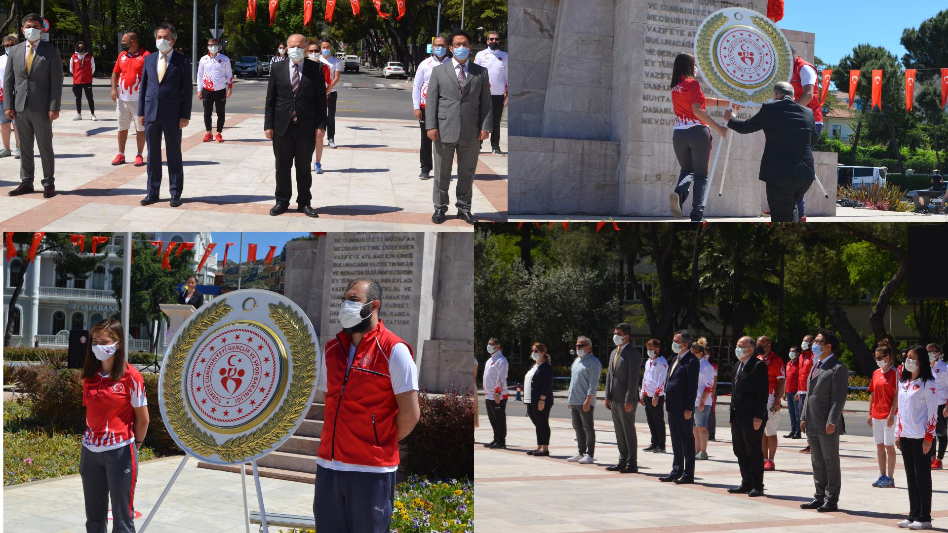 19 Mayıs etkinlikleri çelenk koyma töreni ile başladı