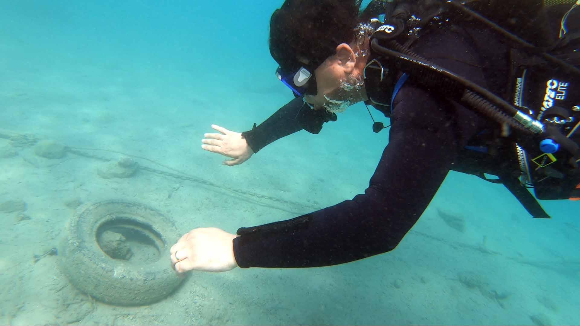 Fethiye'deki lagünde deniz dibi temizliği yapıldı