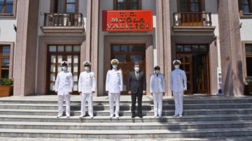 Sahil güvenlik ekibinden Vali Tavlı'ya ziyaret