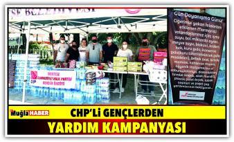 CHP'Lİ GENÇLERDEN YARDIM KAMPANYASI