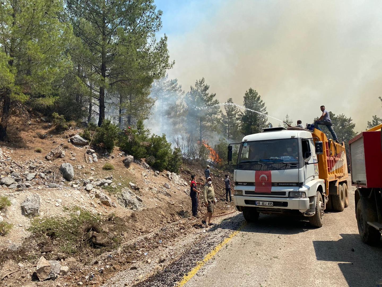 SEYDİKEMER'DE dört yerleşim yeri tedbiren tahliye edildi