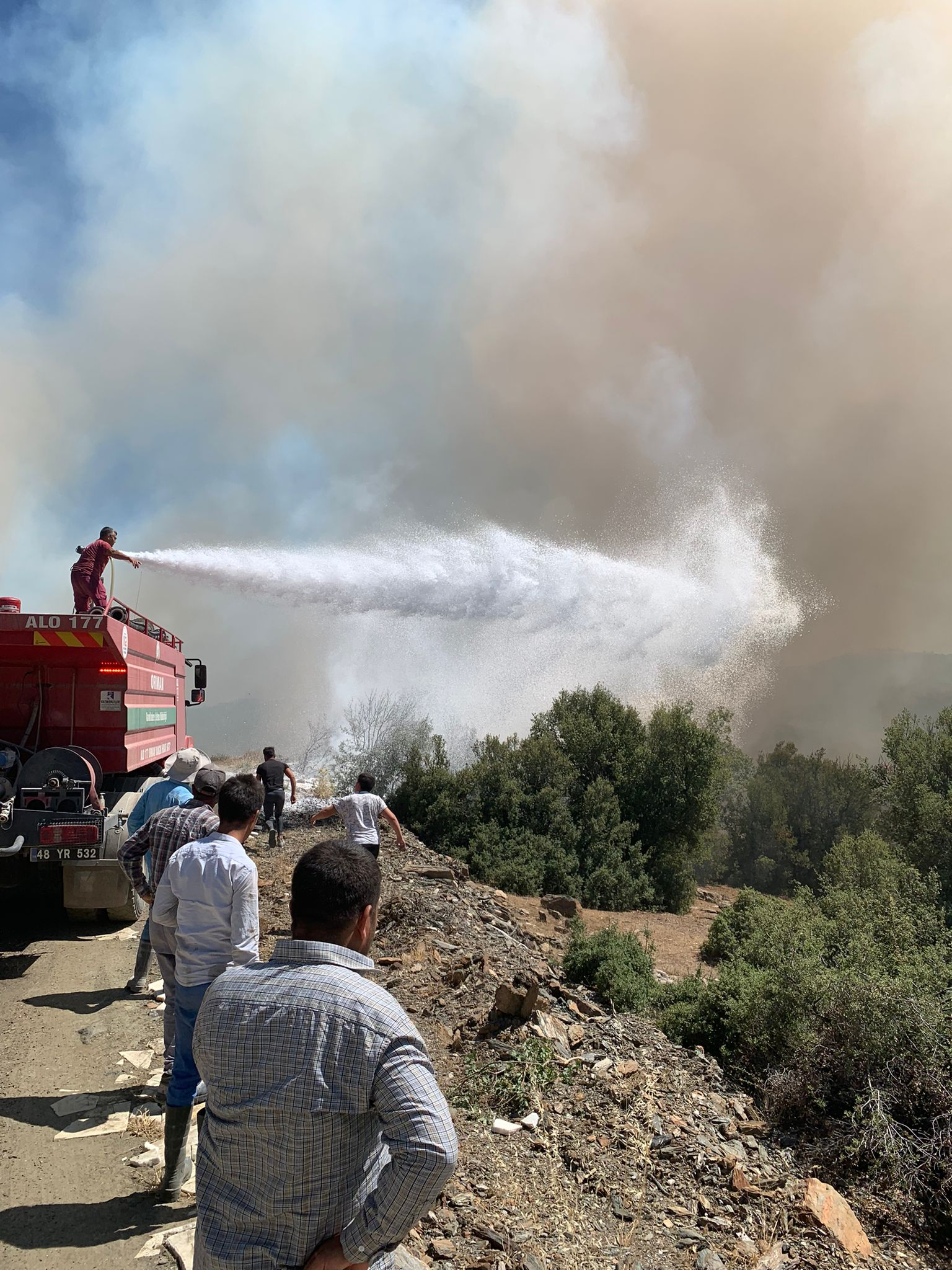 Muğla'nın Kavaklıdere ilçesinde orman yangını çıktı