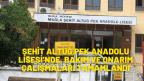 ŞEHİT ALTUĞ PEK ANADOLU LİSESİ'NDE, BAKIM VE ONARIM ÇALIŞMALARI TAMAMLANDI